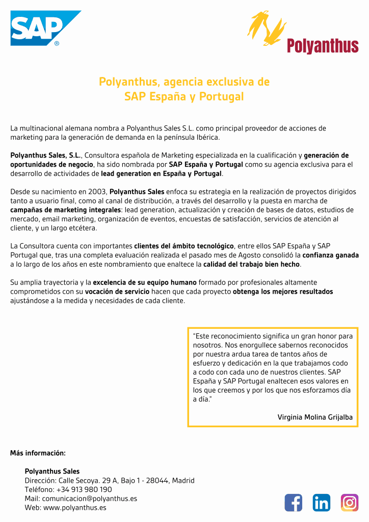Agencia exclusiva de SAP